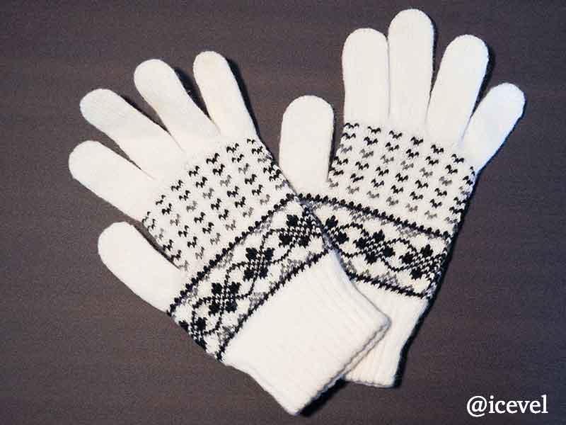 アイスランドウールで編まれた手袋