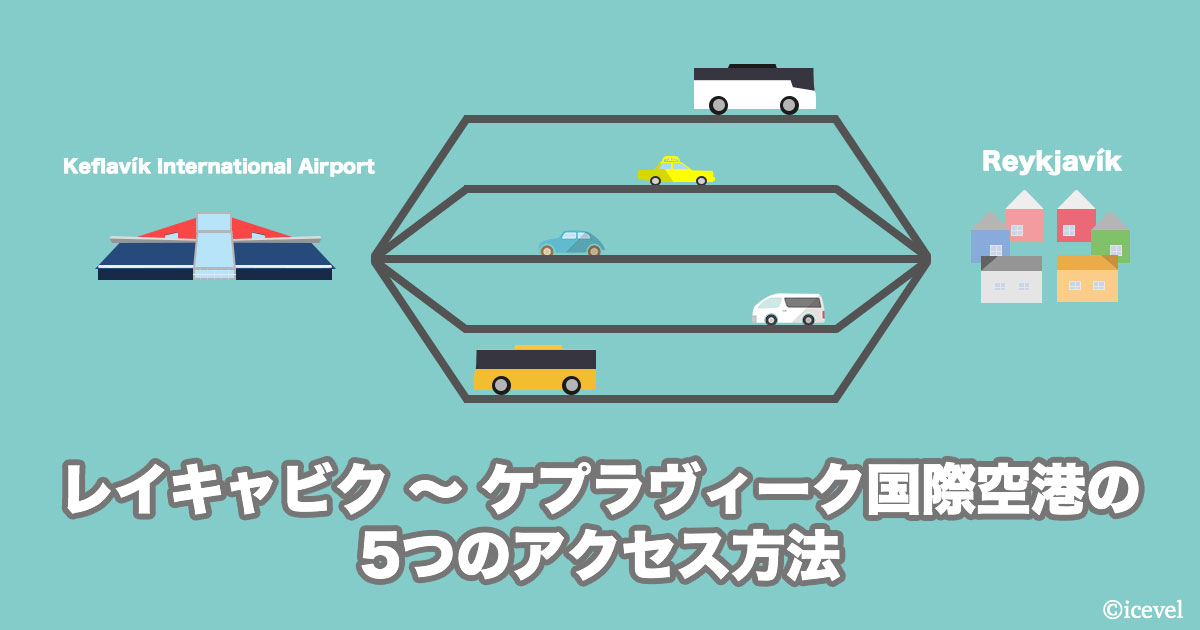 レイキャビク〜ケプラヴィーク国際空港の5つのアクセス方法