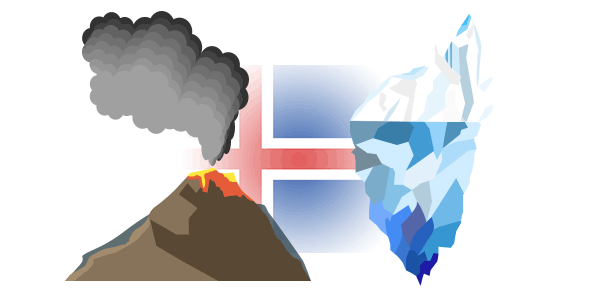 火山と氷河